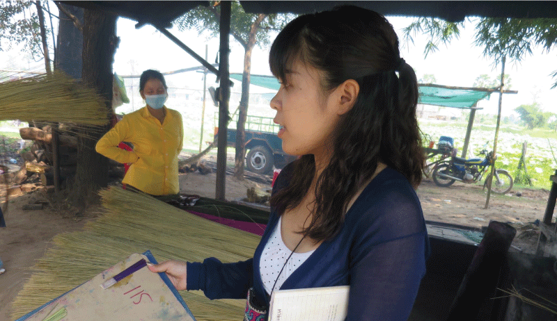 the role of midori when she worked at cambodia