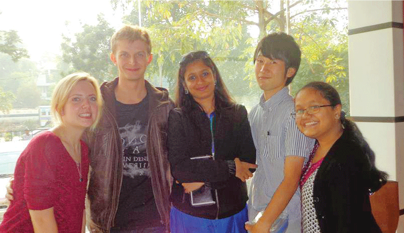 Shinnosuke participated internship abroad in india