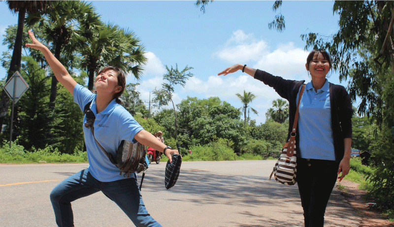 hitchhiking in Cambodia