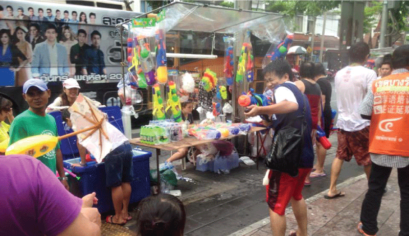 Songkran, Water Festival in Bangkok