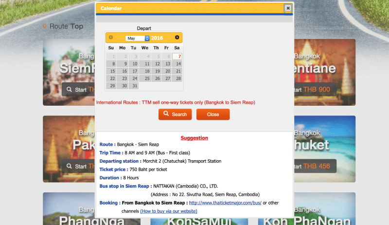 Find a ticket by date search