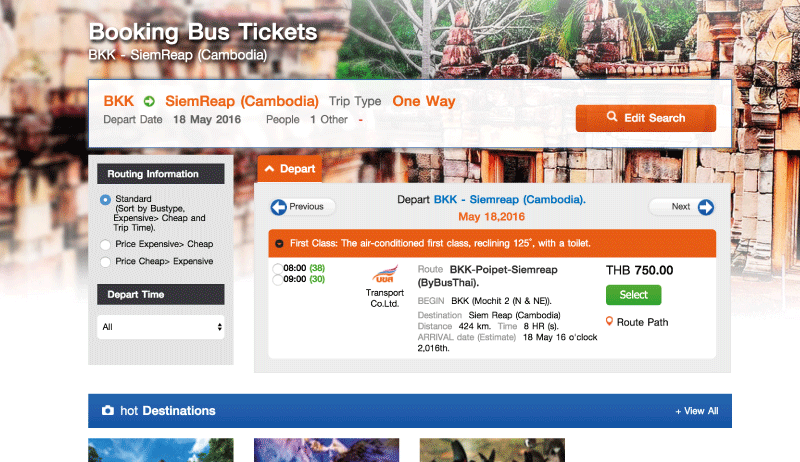 Booking Bus Tickets
