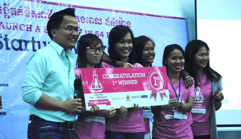 Startup Weekend Phnom Penh Women's Edition優勝チーム - これから海外インターンをする人は参加しよう!Startup Weekendのススメ