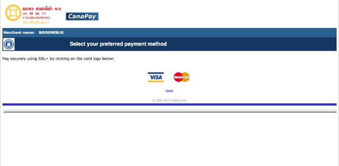 Canadia Bank credit card payment