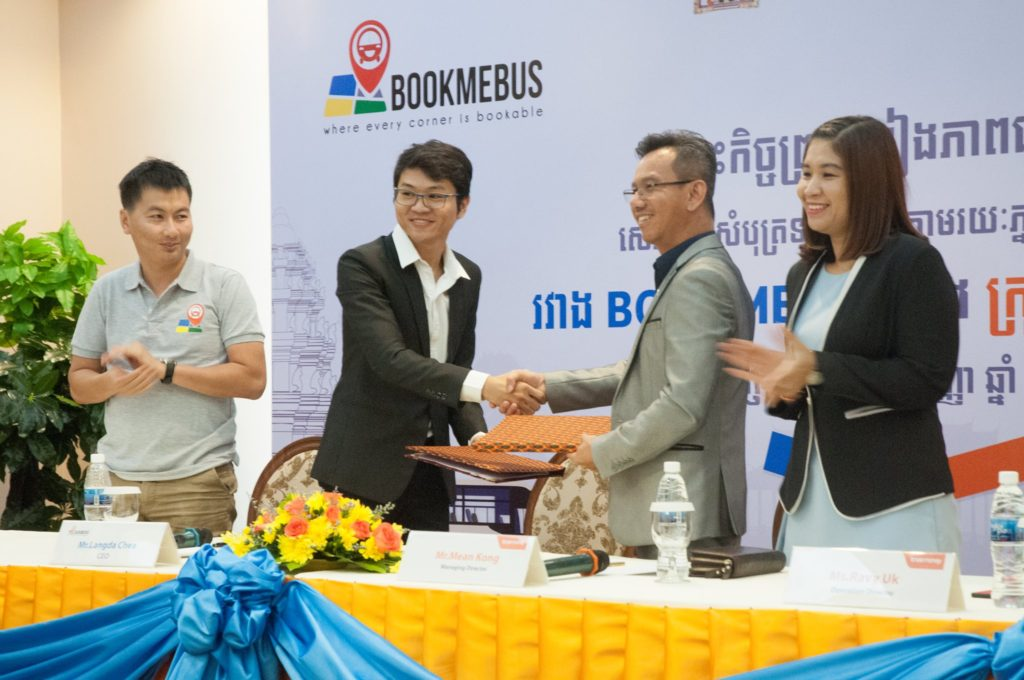 Press conference of BookMeBus and TrueMoney