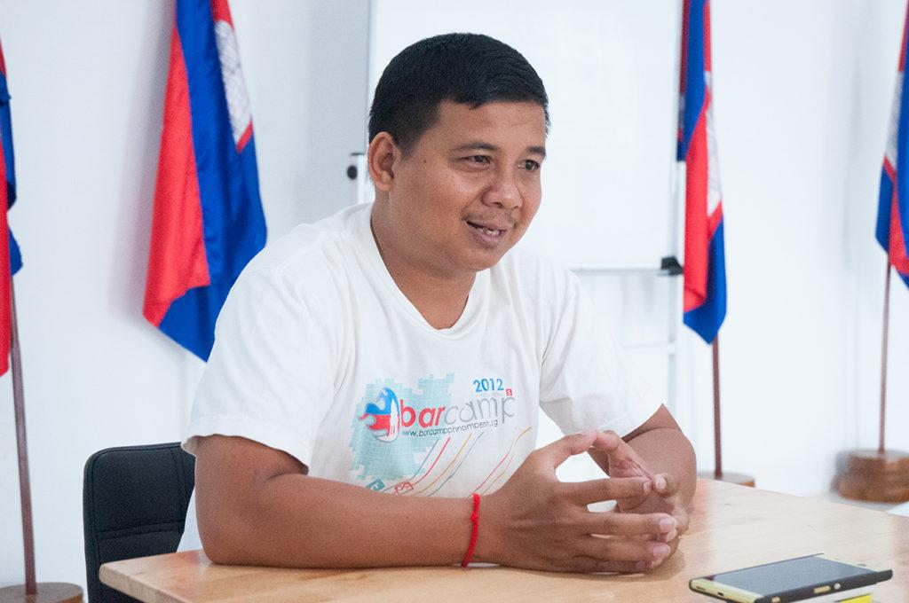 Chantra, the lead organizer of BarCamp Cambodia