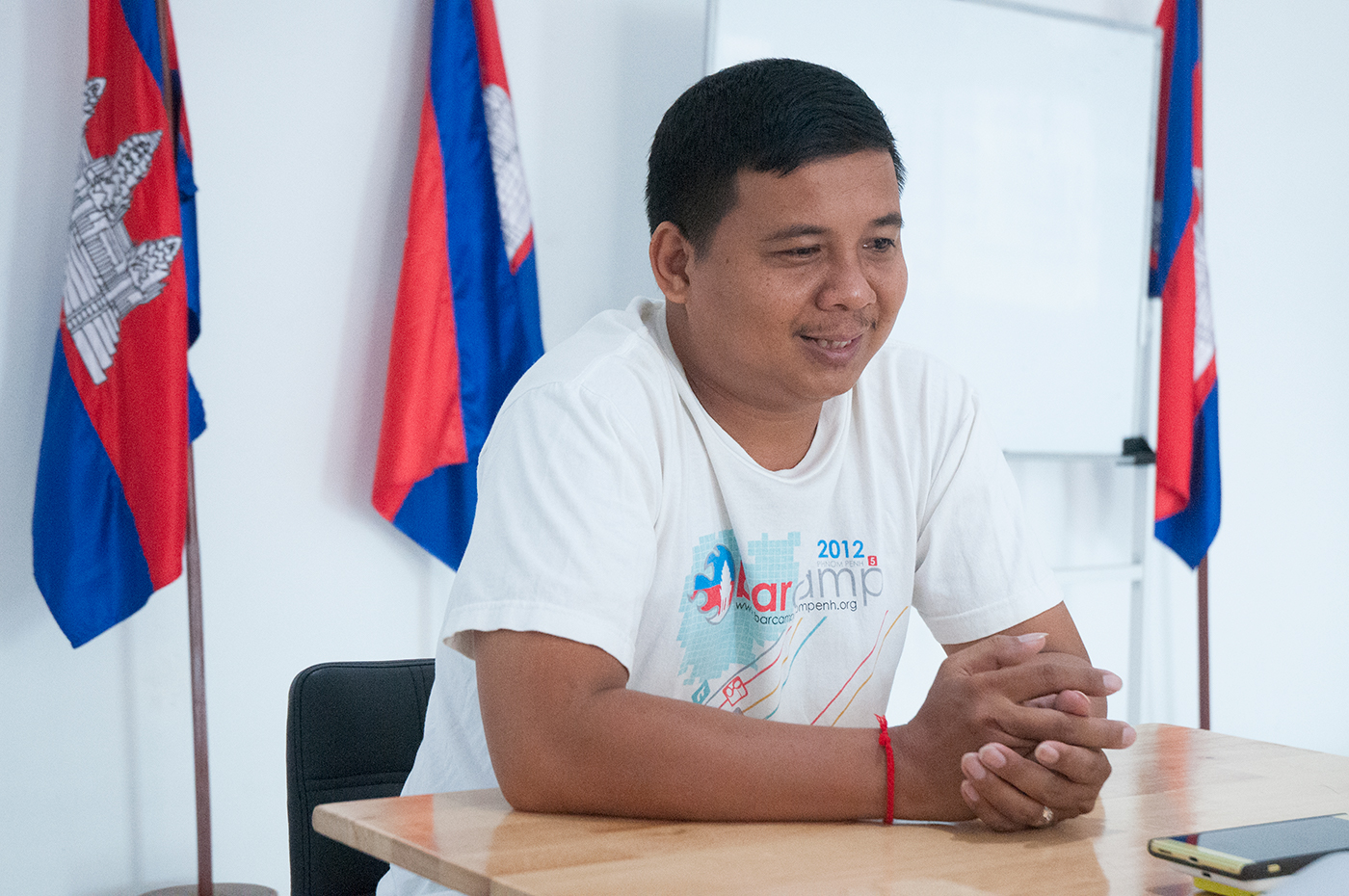 The reason why Chantra decided to join BarCamp Cambodia team